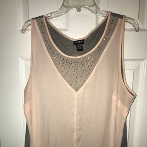 Torrid size 2 beautiful pink and gray tank top